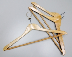 Anti theft hanger wood